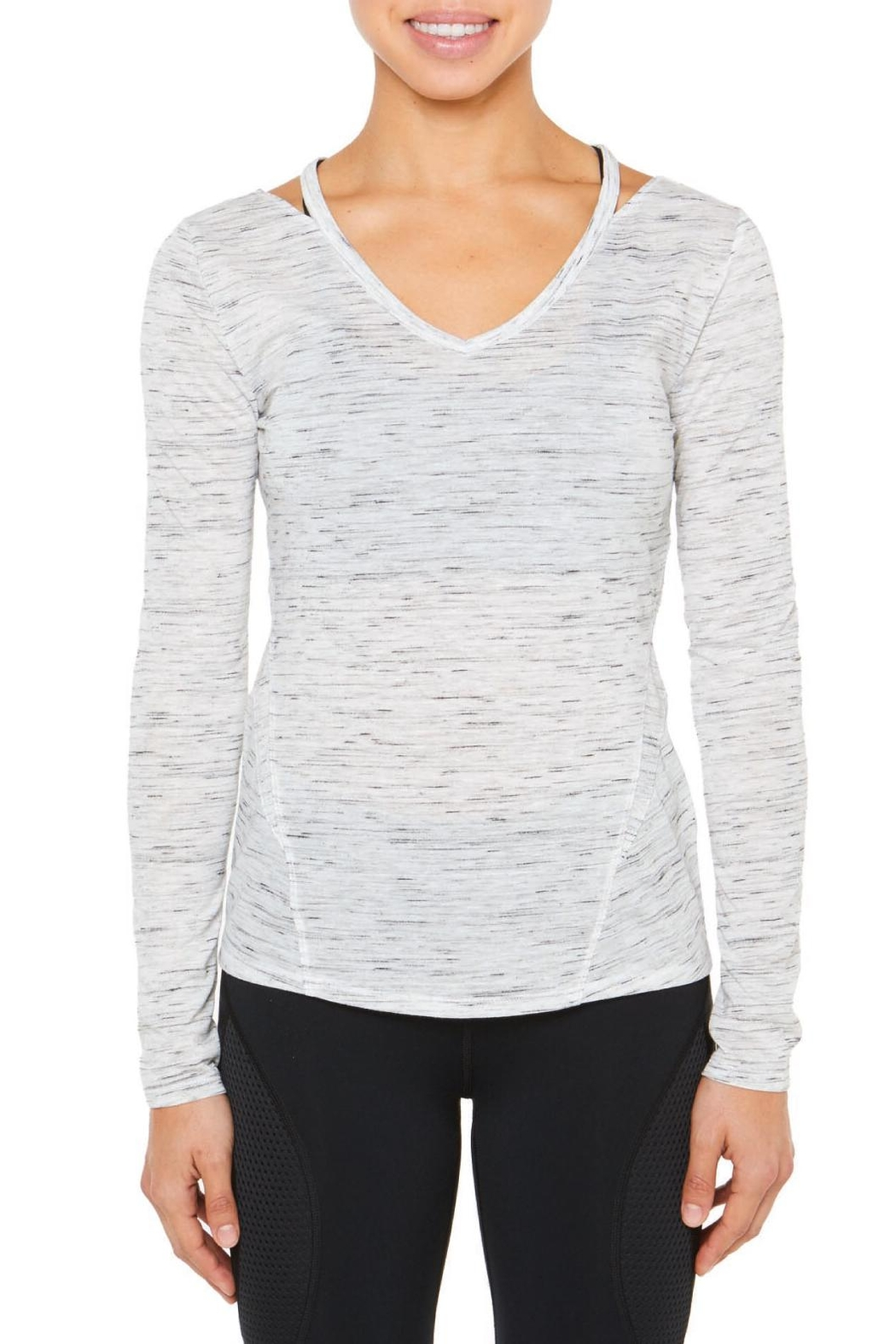 SHAPE Activewear V Neck Tee - Front Cropped Image