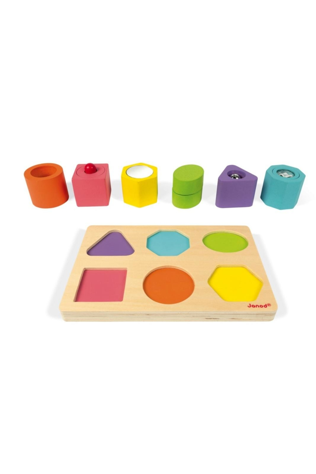 Janod Shapes & Sounds Puzzle - Front Cropped Image