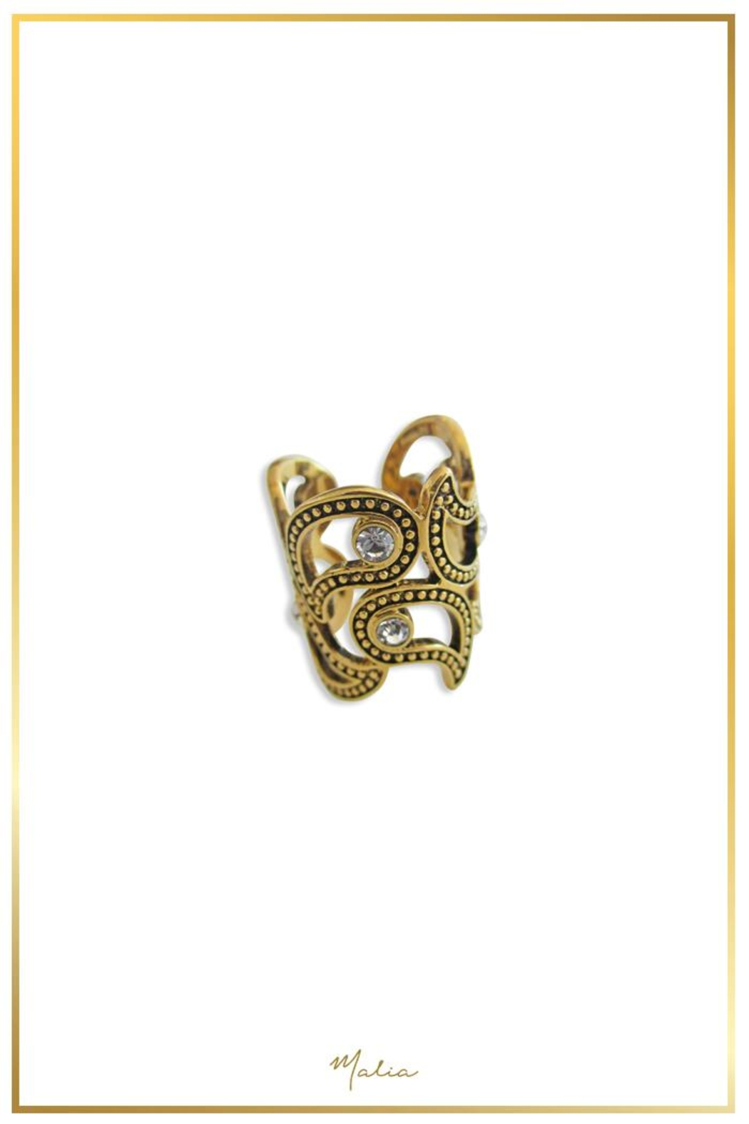 Malia Jewelry Shapes Zirconias Ring - Front Cropped Image