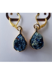 Tiny House of Fashion Sharay Blue Rock Earring - Product Mini Image