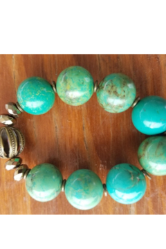 Tiny House of Fashion Sharay Teal Agate Bracelet - Product List Image