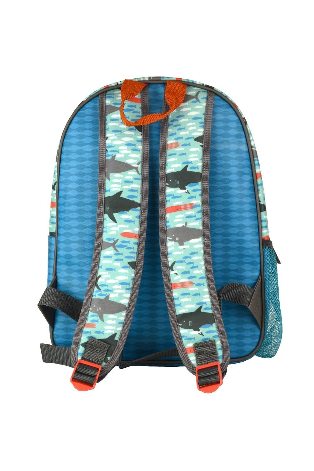 Petit Collage Shark Backpack - Front Full Image