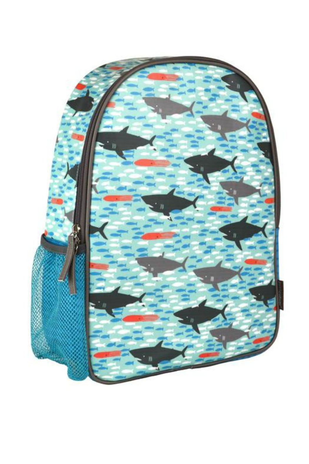 Petit Collage Shark Backpack - Main Image