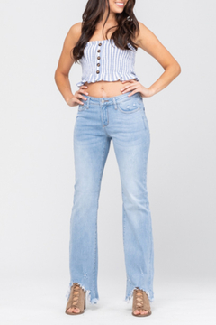 Judy Blue Shark Bite Bootcut Curvy - Product List Image