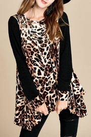 Oddi Shark-Bite Leopard Tunic - Product Mini Image