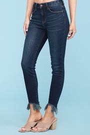 Judy Blue Shark Bite Skinny Jeans - Plus Size - Front cropped
