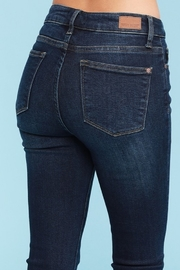 Judy Blue Shark Bite Skinny Jeans - Plus Size - Side cropped