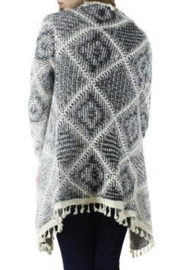 Bedford Basket Sharkbite Diamond Cardigan - Side cropped