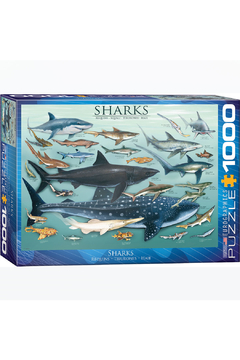 Shoptiques Product: Sharks 1000 Piece Puzzle