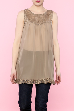 Shoptiques Product: Sheer Taupe Tank