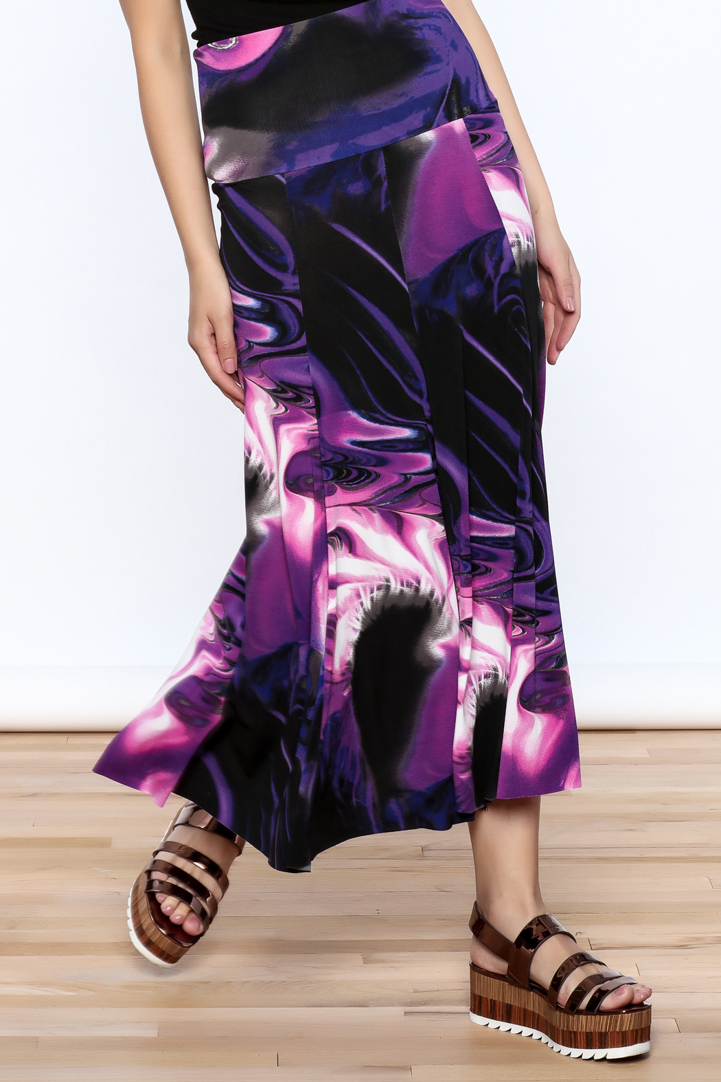 Sharon Max Purple Convertible Skirt - Front Cropped Image
