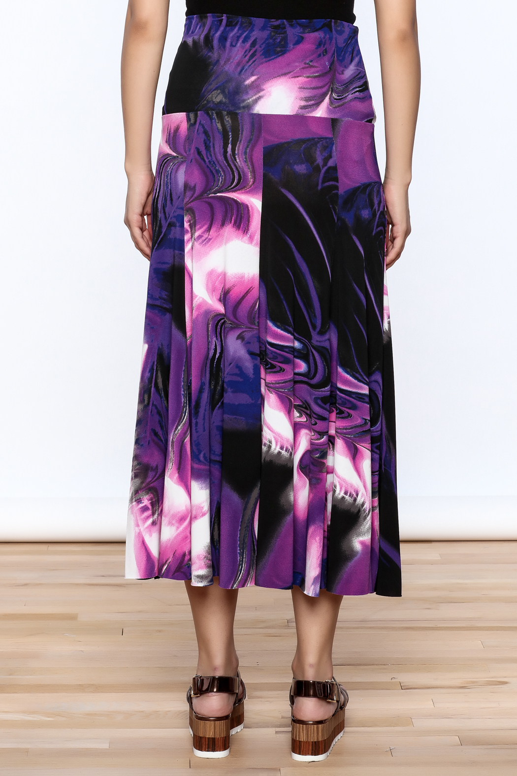 Sharon Max Purple Convertible Skirt - Back Cropped Image