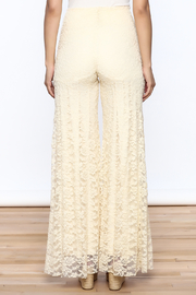 Sharon Max ivory Lace Palazzo Pants - Back cropped