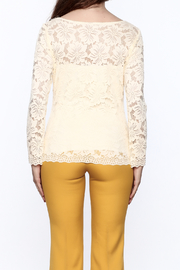 Sharon Max Ivory Lace Top - Back cropped