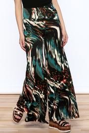 Sharon Max Abstract Print Palazzo Pant - Product Mini Image