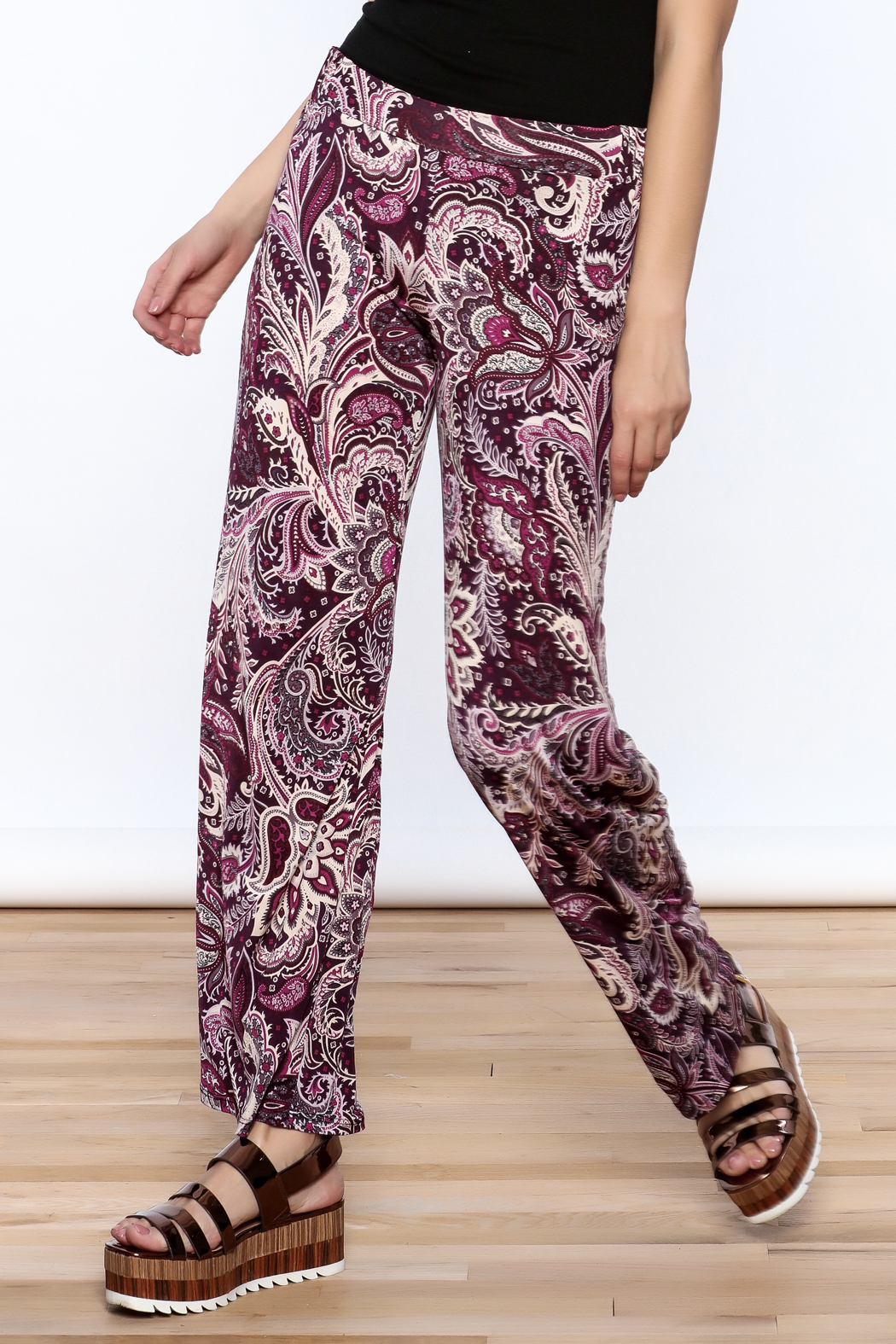 Sharon Max Purple Printed Palazzo Pant - Main Image