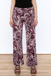 Sharon Max Purple Printed Palazzo Pant - Side cropped