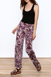 Sharon Max Purple Printed Palazzo Pant - Front full body