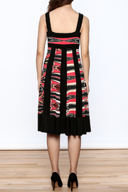 Sharon Max Black Printed Midi Dress - Back cropped