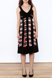 Sharon Max Black Printed Midi Dress - Front cropped