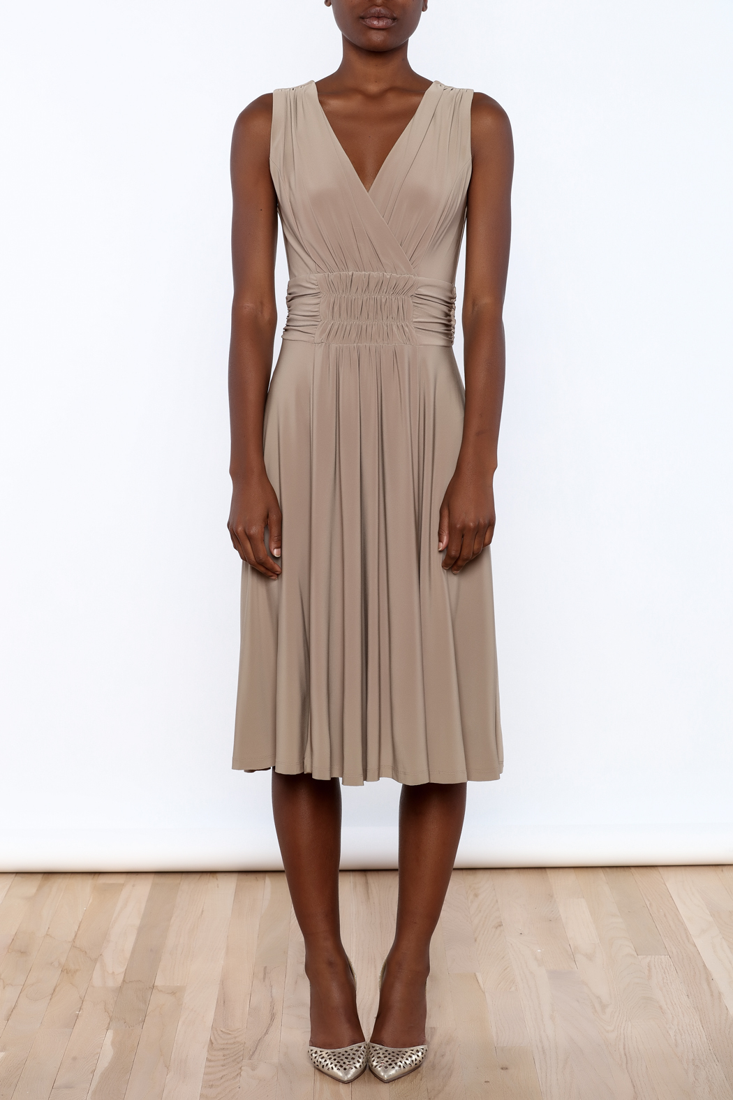 Sharon Max Ruched Waist Dress - Front Cropped Image