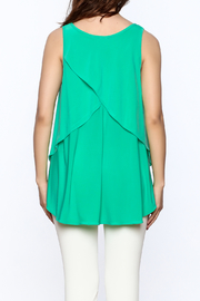 Sharon Max Green Sleeveless Swing Top - Back cropped