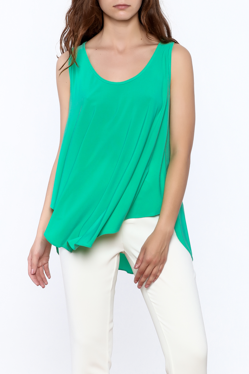 Sharon Max Green Sleeveless Swing Top - Main Image