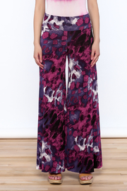 Sharon Max Purple Wide Leg Pants - Side cropped