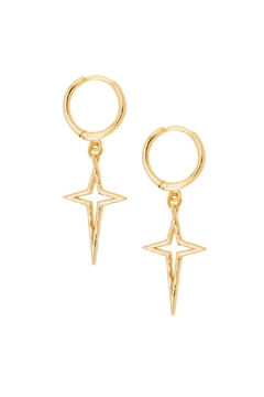 Shoptiques Product: Twinkle Huggie Earrings