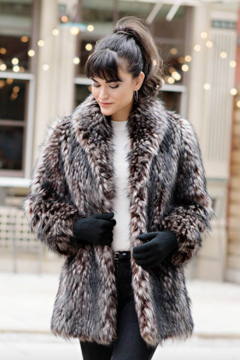 Fabulous Furs Shawl Collar Coat Spotted - Product List Image