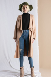 Lena Shawl Collar Sweater Cardigan - Front cropped