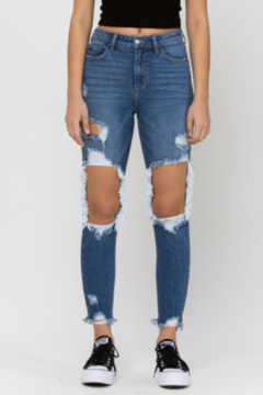 Cello Jeans Shay Distressed Mom Jean - Product List Image
