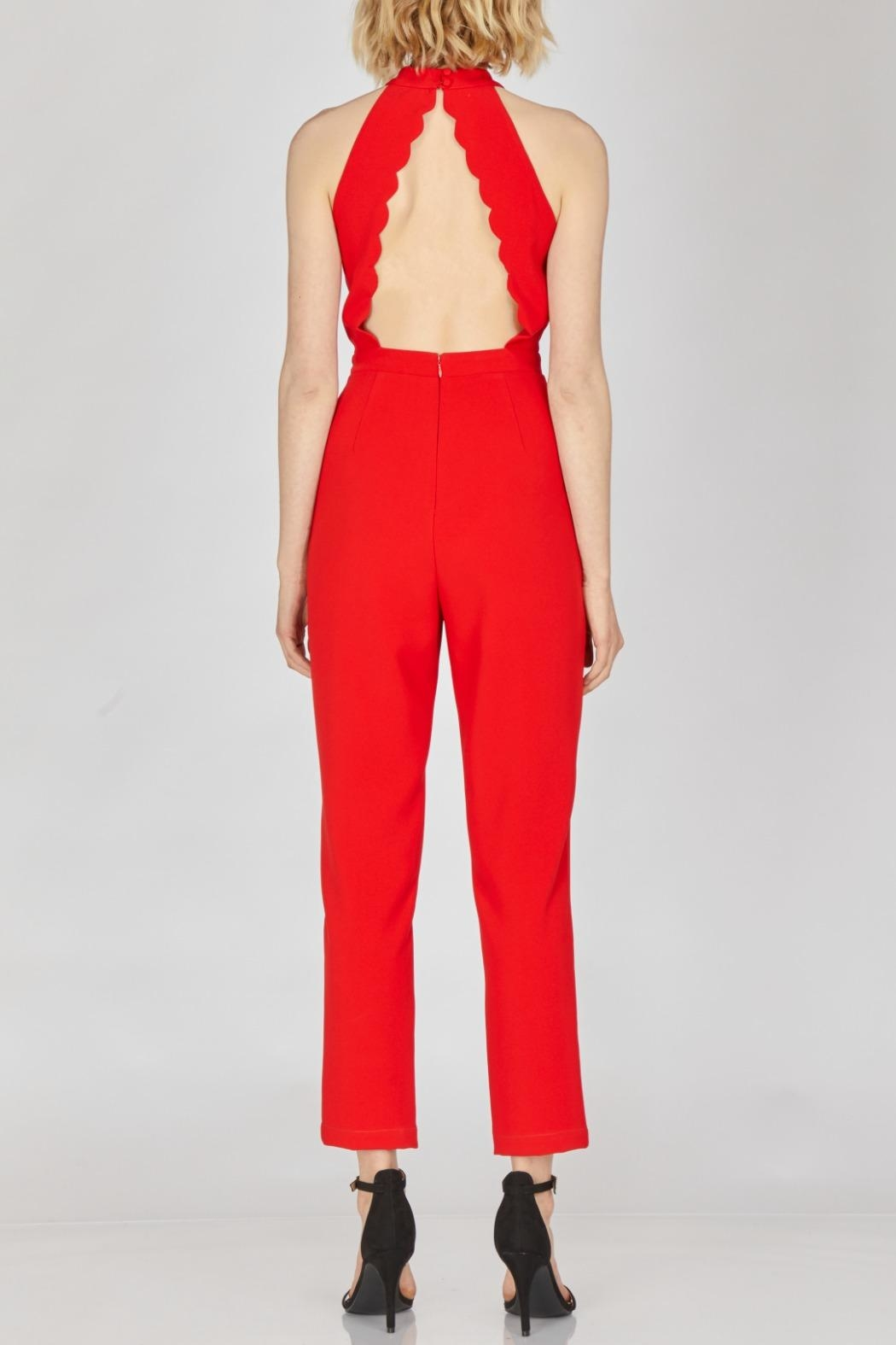 Adelyn Rae Shaylie Scallop Jumpsuit - Front Full Image
