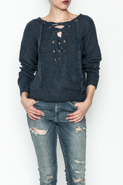 She + Sky Adylene Lace Up Sweater - Product Mini Image