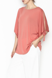 She + Sky Coral Air Flow Top - Product Mini Image