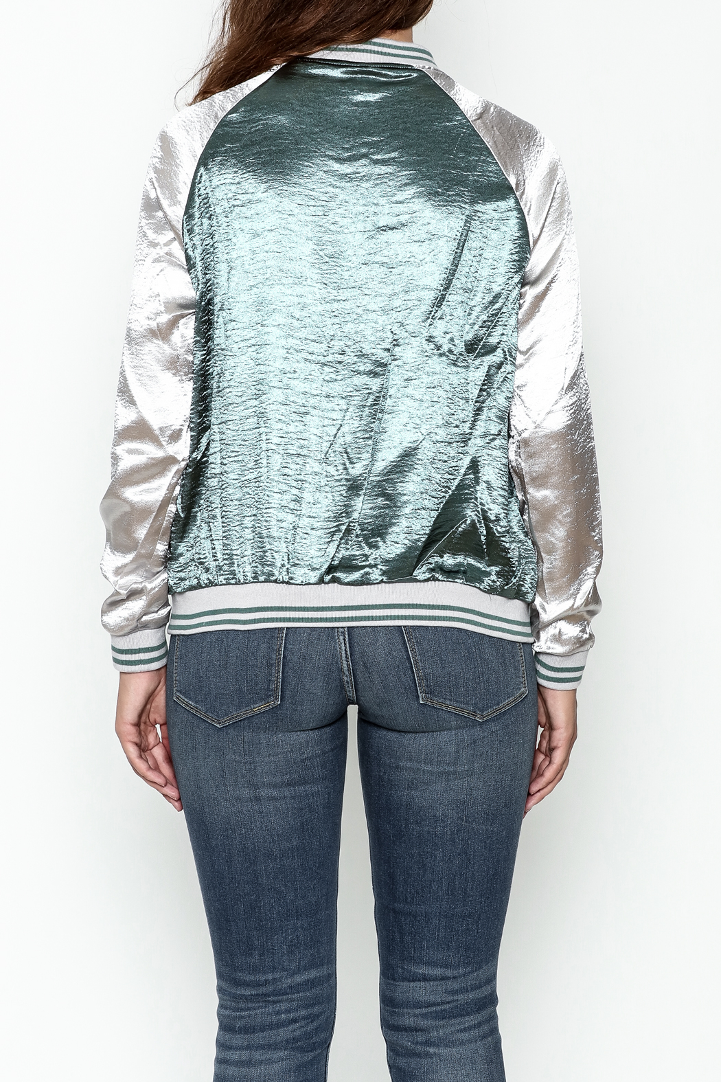 She + Sky Ashton Bomber Jacket - Back Cropped Image