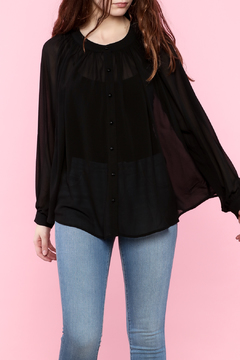 Shoptiques Product: Black Long-Sleeve Blouse