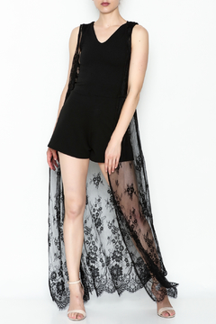 Shoptiques Product: Black Lace Cardigan