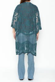 She + Sky Chloe Lace Duster - Back cropped