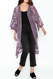 She + Sky Chloe Lace Duster - Front cropped