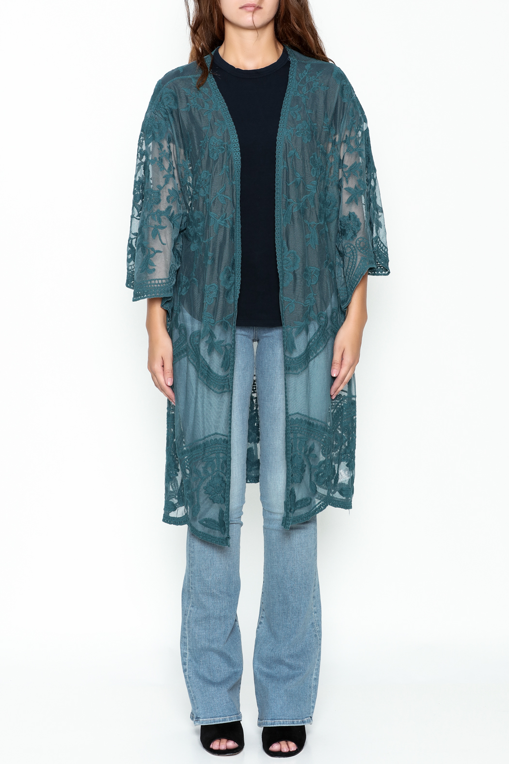 She + Sky Chloe Lace Duster - Front Full Image