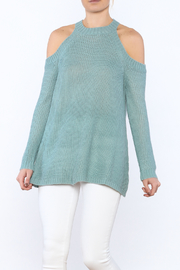 She + Sky Blue Ribbed Sweater - Product Mini Image