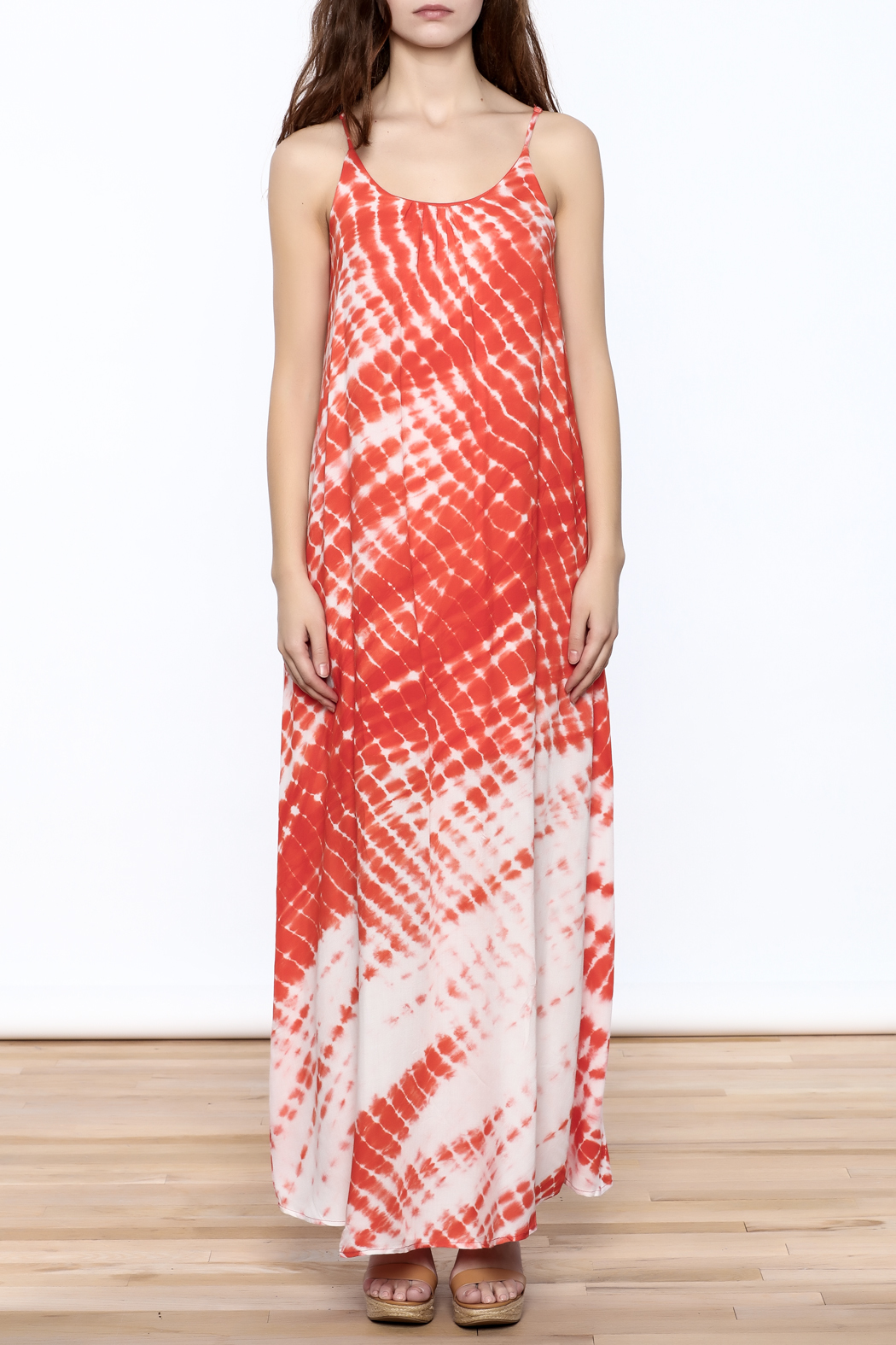 She + Sky Creamsicle Maxi Dress - Front Cropped Image