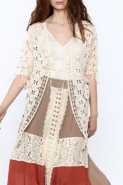 Shoptiques Product: Crochet Knit Vest
