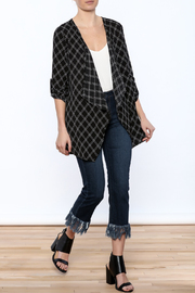 She + Sky Crosshatch Cover-Up - Front full body