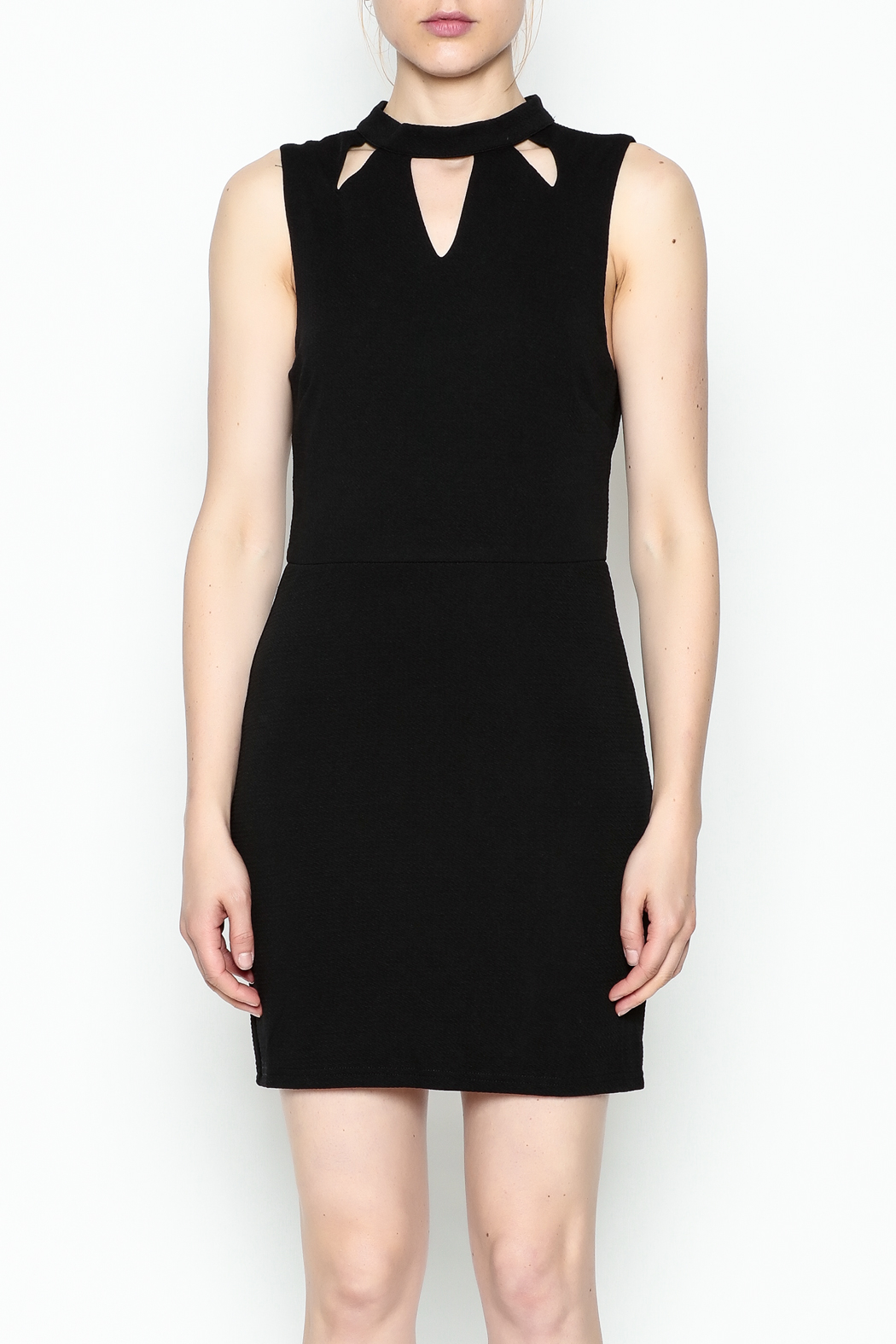 She + Sky Cutout High Neck Dress - Front Full Image