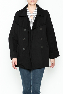 encreme Double Breasted Black Jacket - Product List Image