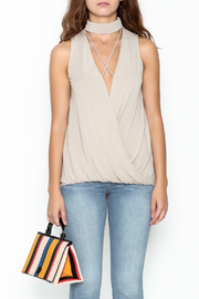 She + Sky Drape Modal Tank - Front full body