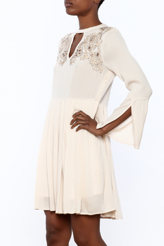 Shoptiques Product: Ivory Embroidery Dress