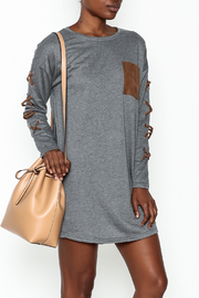 She + Sky Faux Suede Pocket Dress - Product Mini Image